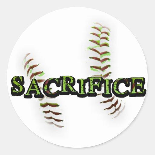 Softball de Fastpitch del sacrificio Pegatina Redonda
