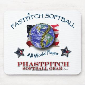 Softball de Fastpitch todo el jugador del mundo Mouse Pad