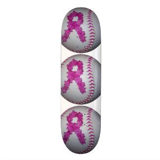 Softball de la conciencia del cáncer de pecho skate board