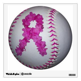 Softball de la conciencia del cáncer de pecho vinilo decorativo