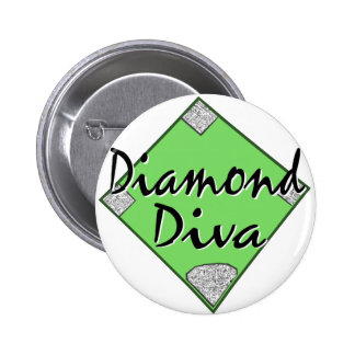 Softball de la diva del diamante pins