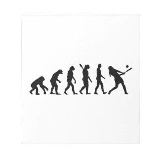 Softball de la evolución bloc de notas