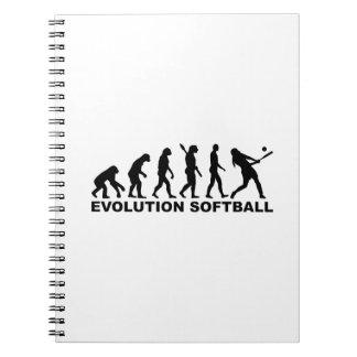 Softball de la evolución libreta