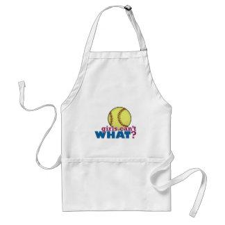 Softball de los chicas delantales