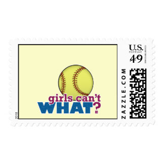 Softball de los chicas sello