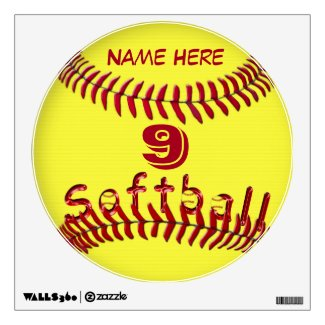 Personalized Softball Decals