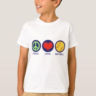 Softball del amor de la paz camisas