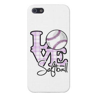 Softball del amor iPhone 5 cárcasa