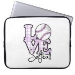 Softball del amor funda portátil
