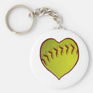 Softball del amor llavero redondo tipo pin