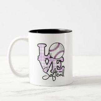 Softball del amor taza de café