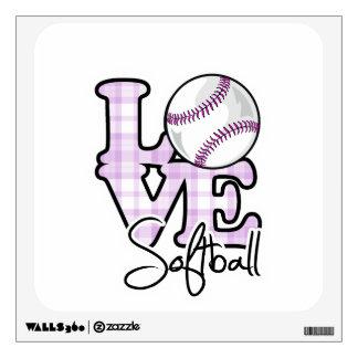 Softball del amor vinilo adhesivo