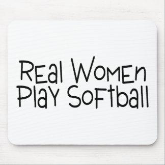 Softball del juego de las mujeres reales tapetes de ratón