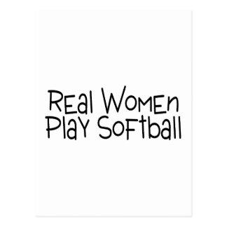 Softball del juego de las mujeres reales tarjetas postales