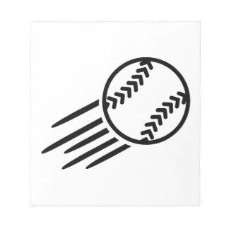 Softball del vuelo bloc de notas