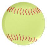 Softball Dinner Plates