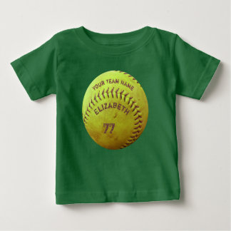 Softball Dirty Name Team Number Baby Ball Tee