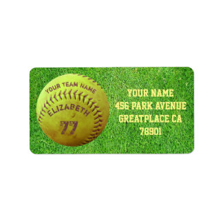 Softball Dirty Name Team Number Ball Address Label