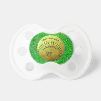 Softball Dirty Name Team Number Ball Pacifier