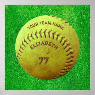 Softball Dirty Name Team Number Ball Poster