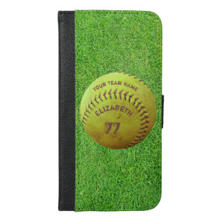 Softball Dirty Name Team Number Ball Wallet Case