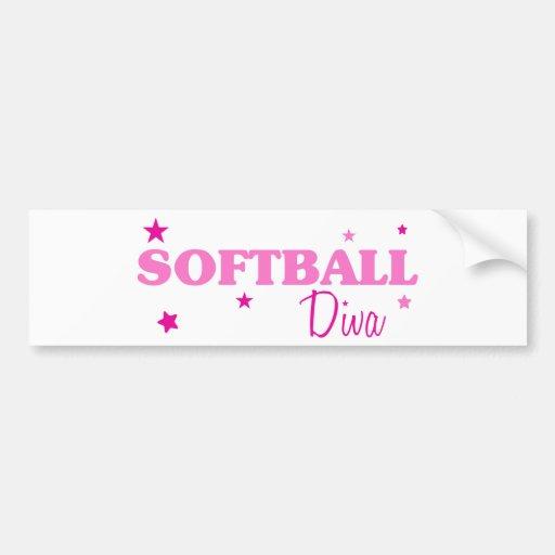 Softball Diva Bumper Sticker