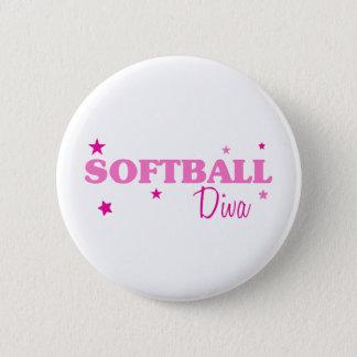 Softball Diva Pinback Button