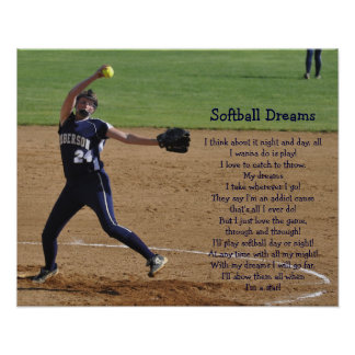 Softball Dreams Poster