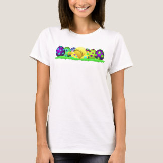 Softball Easter Egg Row Women's T-shirt