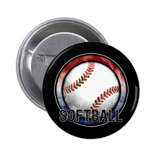 Softball Emblem USA Button