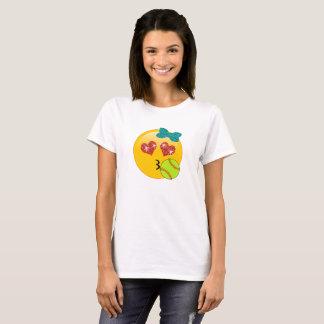 Softball Emoji Heart Eyes Kissy Face for Girls T-Shirt
