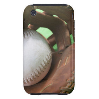 Softball en el guante del colector iPhone 3 tough protectores