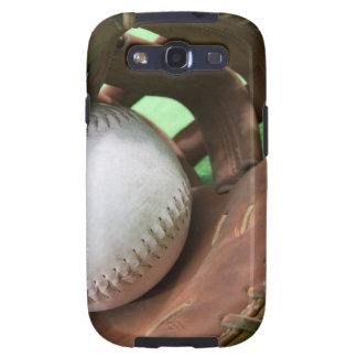 Softball en el guante del colector galaxy s3 fundas