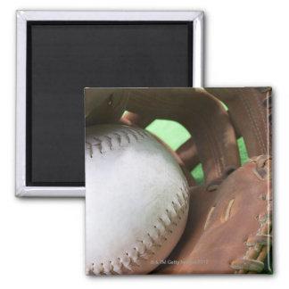 Softball en el guante del colector imán cuadrado