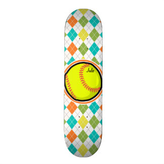 """Softball en el modelo colorido de Argyle Patineta 7 3/8"""""""