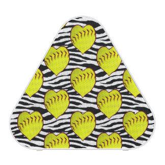 Softball en forma de corazón en modelo de la cebra altavoz bluetooth