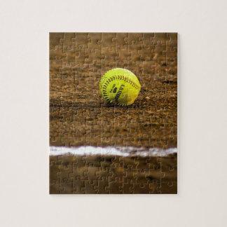 Softball en la tierra puzzle
