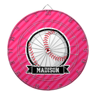 Softball en rayas rosadas