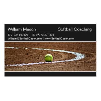 Softball en una tarjeta de visita de la foto del