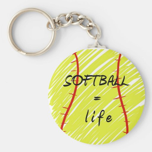 how to make softball keychains