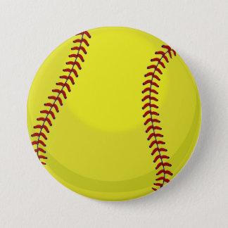 Softball Fan Button