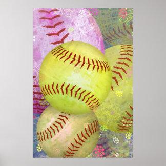 Softball femenino sucio póster