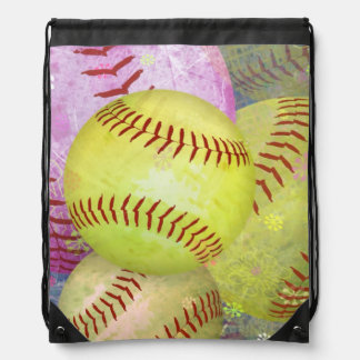 Softball femenino sucio mochila