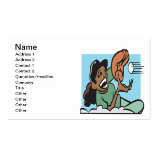 Softball Fielder Business Card