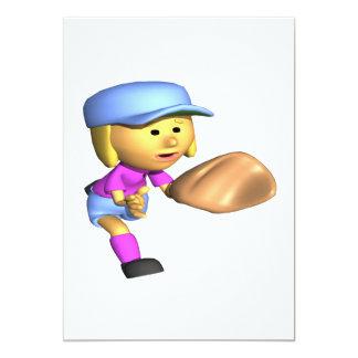 Softball Fielder Card