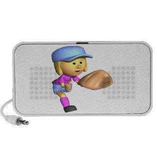 Softball Fielder Laptop Speaker