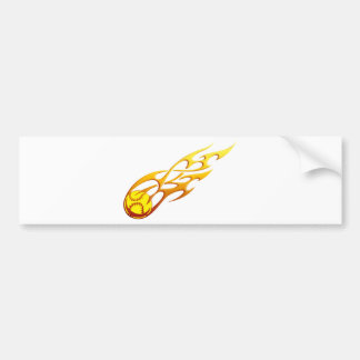 Softball Flame Bumper Sticker
