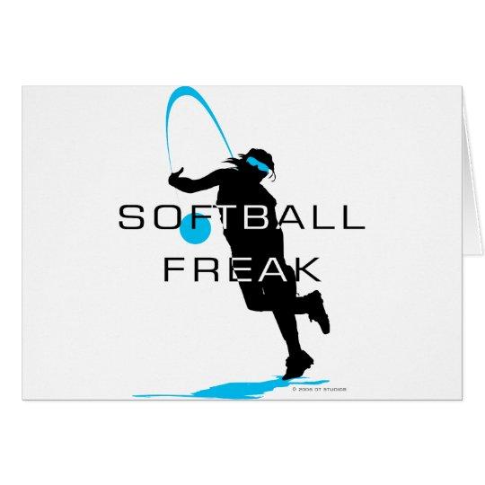 Softball freak - Pitcher front Card