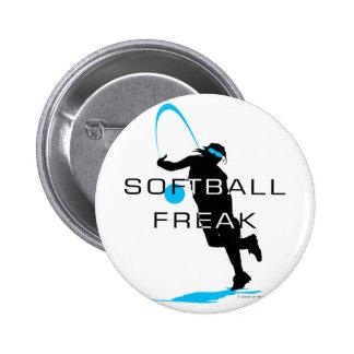Softball freak - Pitcher front Pinback Button