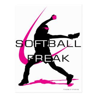 Softball Freak - Pitcher side Postcard
